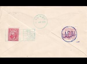 England: 1939: Polish Exile Armee, FDC Lundy, Lacal: Atlantic coast air line