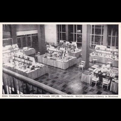 Postkarte Buchausstellung Canada, University Library Montreal 1958 to Heidelberg