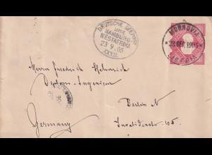 Liberia: Deutsche Seepost, Hamburg-Westafrika, Lucie/Woermann 1905, Gold Coast