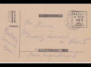 Post card Derventa to Wien