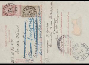 Buxelles 1899 nach Smyrne, KuK Post