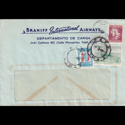 letter Lima, Öeru 1950, Braniff International Airways