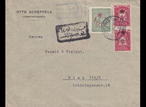 cover 1915 Constantinople to Wien, censor