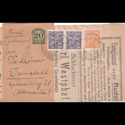 wrapper 1933, German newspaper, to Darmstadt