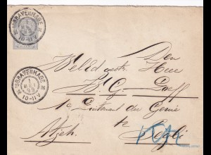 cover Ned. India Bravenhage 1899 to Segli via Padang