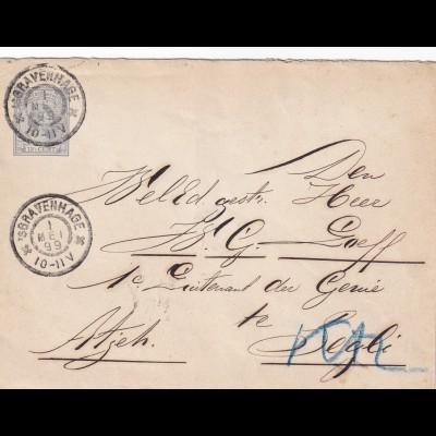 cover Ned. India Bravenhage 1899 to Segli via Padang