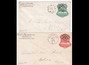 2x cover Clinon N.Y 1928, Syracuse N.Y.1912 to Utica N.Y, railway