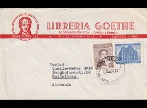 cover Buenos Aires 1951 to Heidelberg, Libreria Goethe