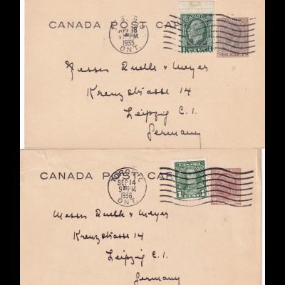 2x cover Library University Toronto 1935/36 to Leipzig