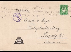 Post card 1943 Oslo to Quelle Verlag Leipzig, OKW censor