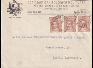 Sociedad Ornitologica, Buenos Aires 1938 to Leipzig