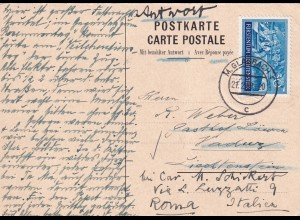 Antwort Postkarte Lichtenstein Vaduz aus M. Gladbach 1939