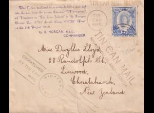 Tin Can Mail Niuafoou-Island-Tonga to New Zealand, Linwood, Christchurch