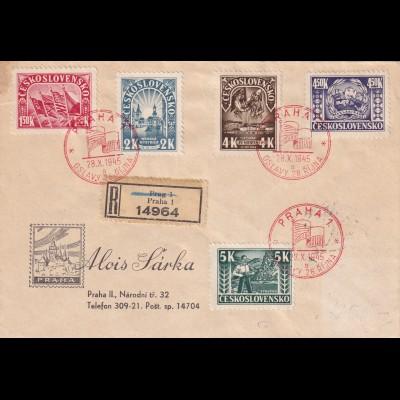 registered 28.10.1945 Praha