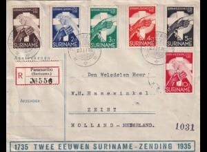 Registered Paramaribo 1938 to Zeist/NL