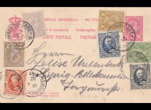 Postkarte 1902 von Luxembourg Gare nach Leipzig