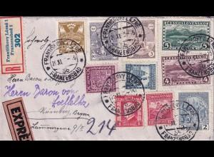 Registerd/Express Frantiskovy Lazne, Ranzensbad1929 nach Nürnberg