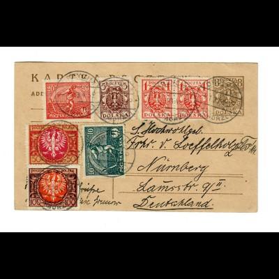 Grodek post card 1923 to Nürnberg