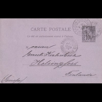 Indochine 1904 Saigon to Finlande