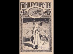 Feldpostkarte 1917 zu Weihnachten nach Elberfeld