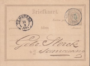 NL India: 1880 post card Soer/Solo to Samarang
