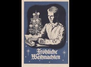 Feldpost Weihnachtskarte 1941 von Detmold nach Magdeburg, Kolonne Schulle