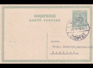 post card 1919 Vlone to Gravosa