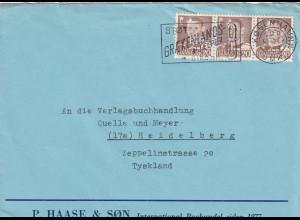 cover Graekenland 1953 to Heidelberg, PERFIN