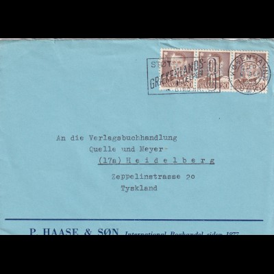 cover Graekenland 1953 to Heidelberg, PERFIN