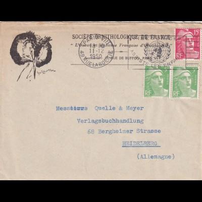 cover Societe Ornithologique 1950, Paris to Heidelberg