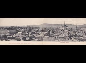 Levante: Beirut, 3 Ansichtskarten, davon eine Karte getrennt 1908 nach Brüssel