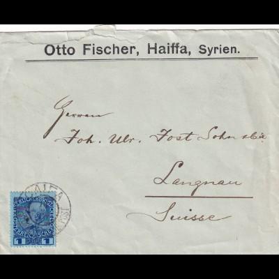 Levante: Holy Land, Haiffa, Syrien 1910 in die Schweiz
