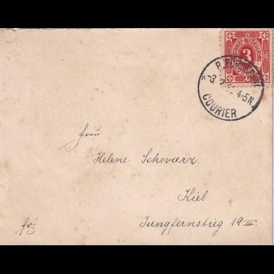 Kiel: 1895 (?), Stadtpostbeförderung MiNr. 3,