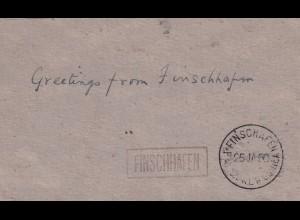 post card Finschafen 1950