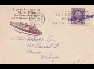 M.S. Elbe, San Francisco Paqubot mail 1935 Michigan