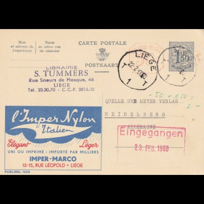 3x post card 1950/51/64 Lüttich/Geel/Liege to Heidelberg