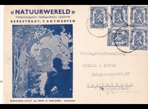 3x covers Antwerpen, Zeitschrift Natuurwereld nach Heidelberg1951 etc
