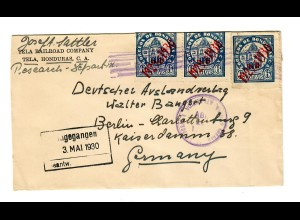 cover Tela, Honduras 1930 to Berlin