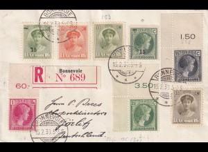 Einschreiben Bonnevoie 1930 nach Görlitz