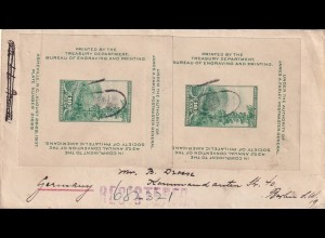 cover with nice franking 1938New York City to Berlin/Germany