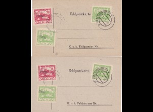 3x post cards Feldpostkarte 1919