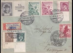 Registered Jablonec nad Nisou 1938 and Reichenberg 1939