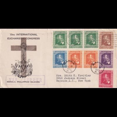Eucharistic Congress, via Clipper Manila to New York 1937
