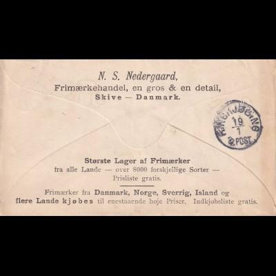 cover 1898 Skive to Ringkjobing