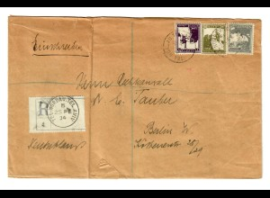 Registered letter Nordau Tel Aviv 1934 to Berlin