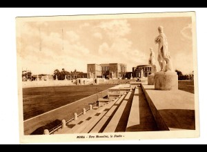 Picture Post card Foro Mussolini, Stadio Napoli with special cancel 1938