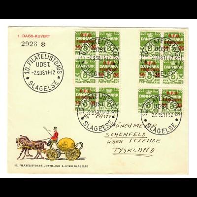 Philatelist Day: 1938 Slagelse to Schenfeld/Itzehoe
