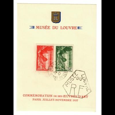 Musée du Lourvre, souvenir card 1937