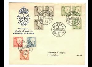 FDC: Stockholm 1951 to Norrköping