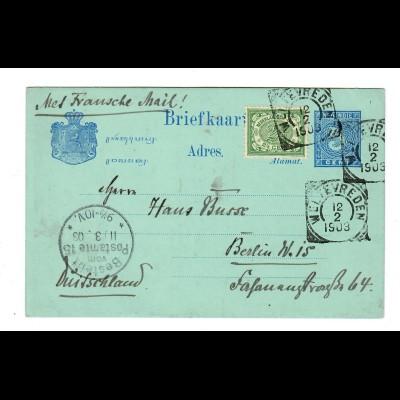 NL India: 1903: Briefkaart Weltevreden to Berlin